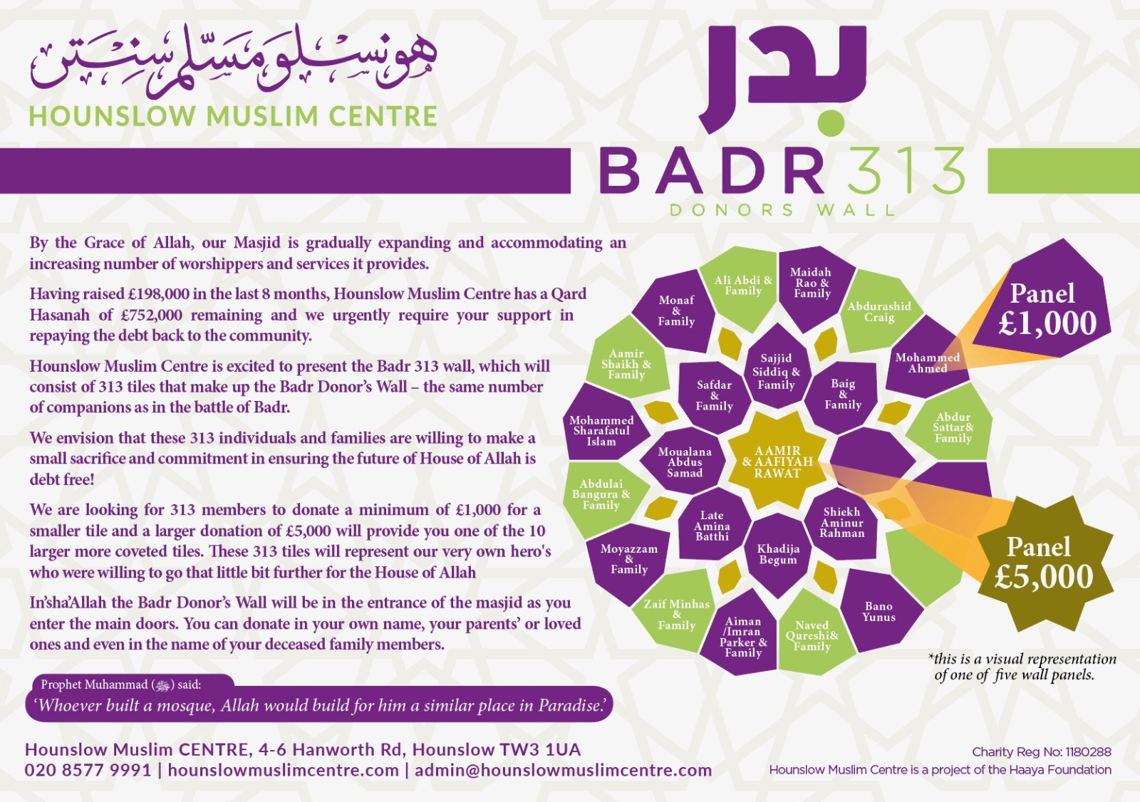 Badr 313 - Donors Wall