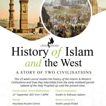 History of Islam and the West poster